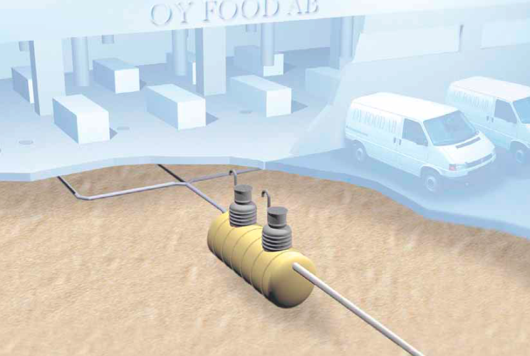 Схема монтажа жироотделителя Eurorek NS
